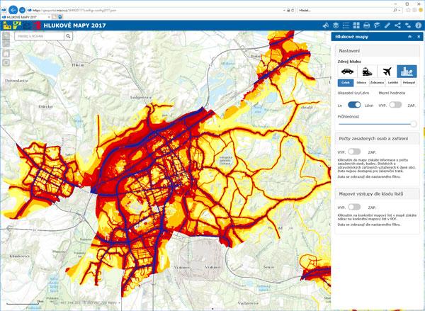 Hlukové mapy 2017