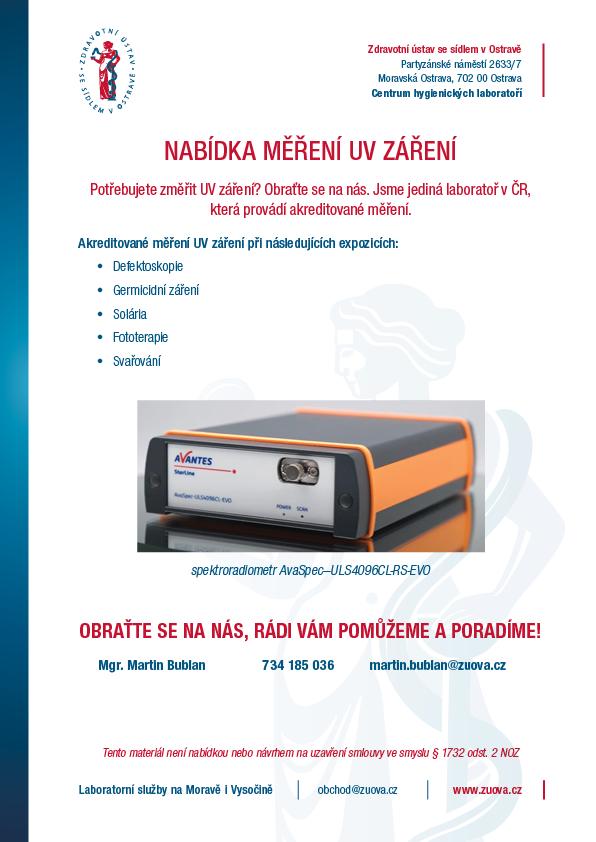 Akreditované měření UV záření