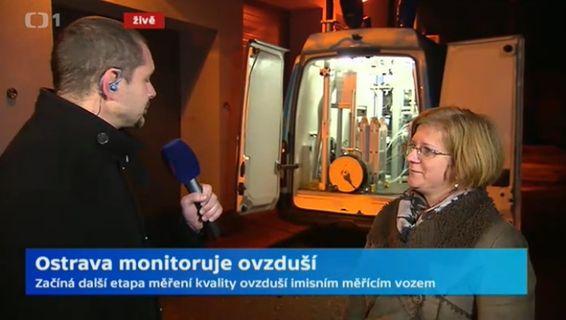 Zahájení nové etapy monitorování ovzduší v Ostravě - záznam vysílání ČT - Studio 6